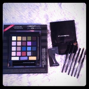 All About Eyes Palette & Studio M Pro Eye-brushes